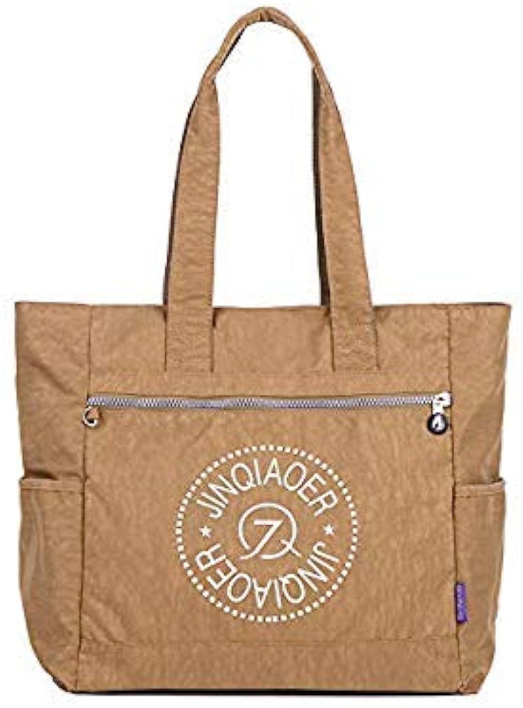 Bloomerang Women Handbag Casual Large Shoulder Bag Fashion Nylon Big Capacity Tote Luxury Brand Design Purple Bags Waterproof Nylon bolsas color Khaki