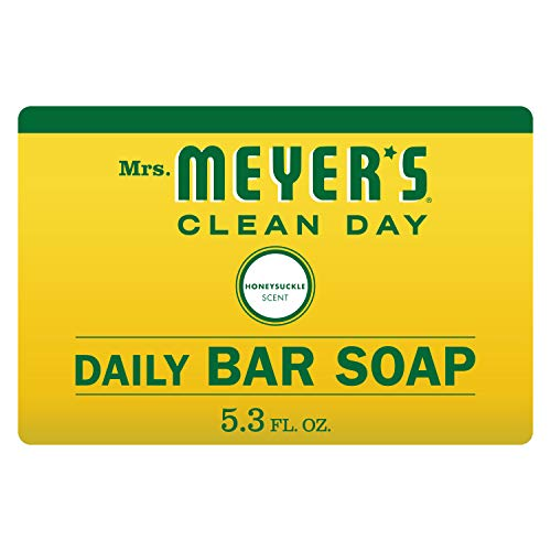 Mrs Meyer#039s Clean Day Bar Soap Use as Body Wash or Hand Soap Honeysuckle Scent 53 oz