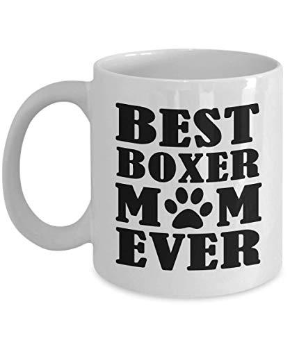 Divertente tazza per la festa della mamma - La migliore mamma pugile di sempre - Idea regalo amante dei cani da figlia figlio marito regalo di compleanno unico novità tazza da caffè per genitori uomin