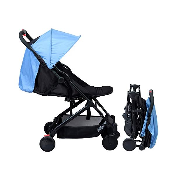 "BAMBISOL Yuko Compact Baby Pushchair BAMBISOL Compact lightweight baby stroller Stroller can be used from birth to 36 months and/or from 3 to 15 kg Ultra compact folding ""with one hand"" 1"
