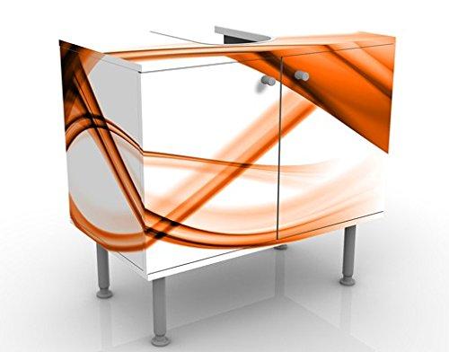 Meuble sous Vasque Design Orange Element 60x55x35cm, Petit, 60 cm de Large, réglable, Table de lavabo, Armoire de lavabo, lavabo, Meuble Bas, Baignoire, Salle de Bains, Armoire de Salle Bains
