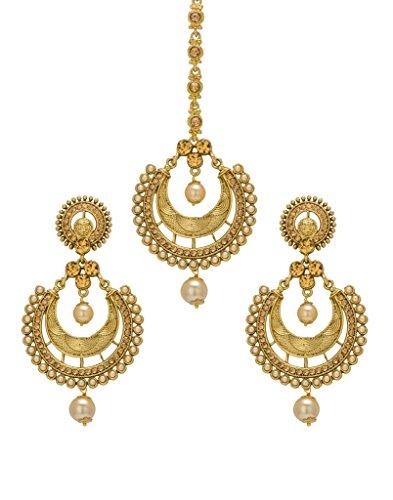 Bindhani Women's Indian Style Maang Tika Headpiece Bollywood Jewellery Bridal Hair Accessories Bridesmaid Wedding…