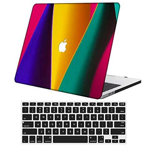 NKDCase Case for MacBook Air 13 inch Model A1932 Cut Out Design,Plastic Ultra Slim Light Hard Case Keyboard Cover Compatible MacBook Air 13 inchRelease with Retina Display Touch ID,Pink Series 1056