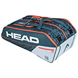 HEAD Unisex-Erwachsene Core 9R Supercombi Tennistasche, Grey/orange, Einheitsgröße