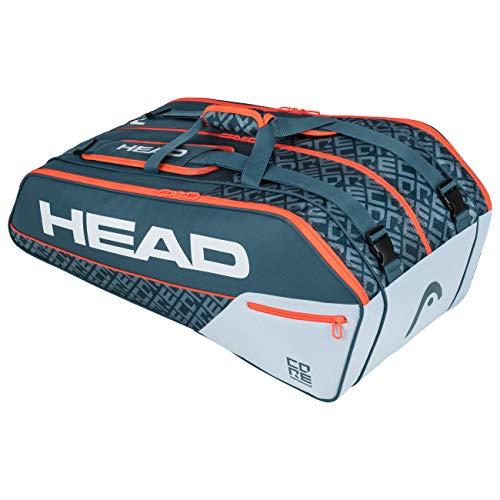 HEAD Core 9R Supercombi, Borsa per Racchetta Unisex Adulto, Grigio/Arancia