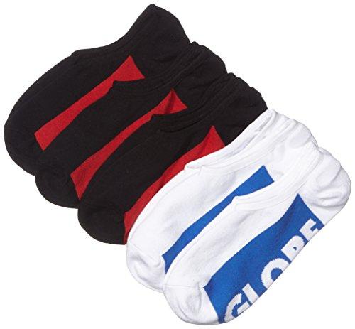 Globe Invisible Socks 5 Pack, Black/White, 7-11