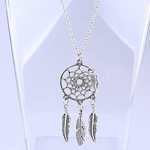 Feather Pendant Choker Bib Statement Necklace Women Sweater Chain for Mom