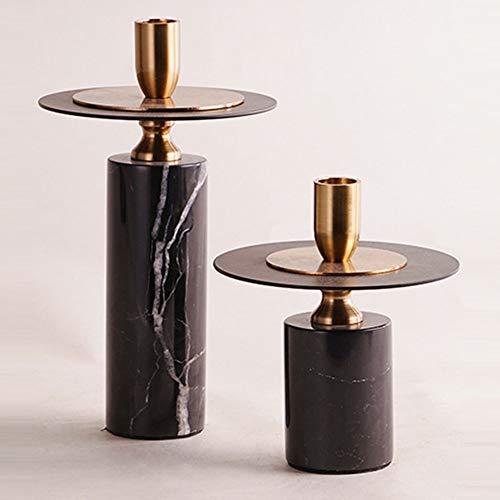 Gal Mädel Die Neue europäische Stil Marmor zwischen Metall Leuchter Hochzeit Harz Handwerk Wohnzimmer Modellgeometrie Kerzenhalter Ornamente