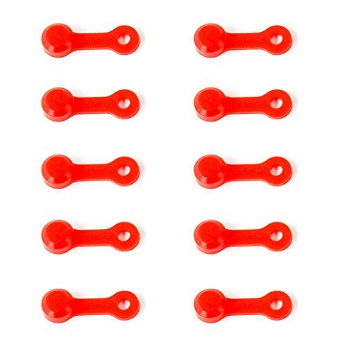 SHURROW 10 Stück Silikon Bremsentlüfter Schraubverschluss Fett Fitting Cap Staubschutzkappe Bremsentlüfter Nippelkappe für Rennrad MTB Bremsentlüfter Schraubverschluss rot