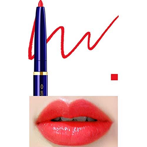 Yiwa Double Tête Cosmétique Professionnel Lipliner Imperméable Dame Charme Lèvres Lèvres Doux Crayon Contour Rouge À Lèvres 06#