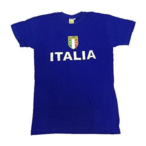 Vari T-Shirt Maglietta Uomo Italia-XXL-Blu