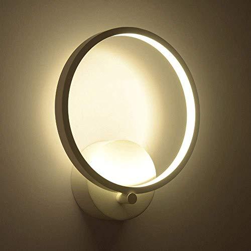 UWY Linterna de Pared LED Simple y Moderna Lámparas de Pared de acrílico Blancas Redondas con Ahorro de energía Creativas Lámparas de Pared de Aluminio y Metal Personalidad Dormitorio Sala de es