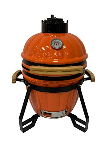 """Chefood 16"""" Ceramic Kamado Style BBQ Cooking Charcoal Pumpkin Grill"""
