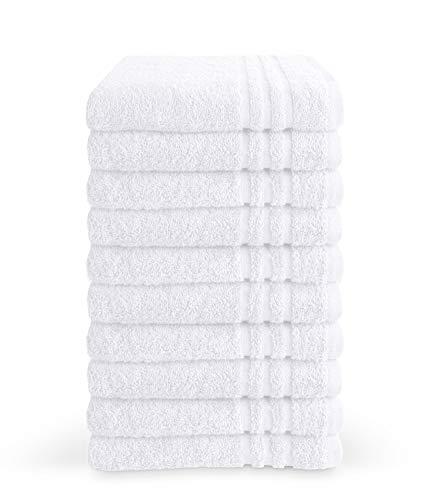 Byrklund Handtuch-Set, 8 Handtücher 50x100 cm, 100% Baumwolle, 500g/m2, Weiß