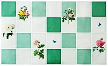 TBOP Home Aluminum foil Smoke-Proof high Temperature Oil Proof Wallpaper Kitchen Stove Tile Wall Waterproof Stickers Flower Bunch Size 74 * 45cm in Green Color