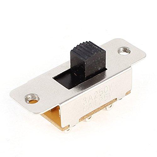 AC 250V/125V 3A/6A 2NO 2NC DPTD Mini Panel Soldadura Interruptor Deslizante