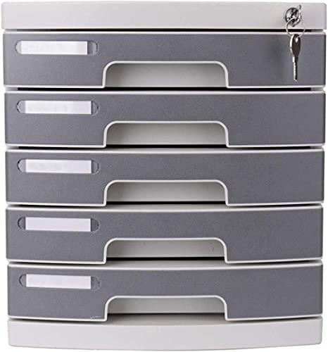 PIVFEDQX Armarios archivadores 5to Piso Armario de Seguridad de Escritorio de plástico Armario de Almacenamiento de Documentos Caja de Almacenamiento Escritorio Muebles de Oficina en casa Estantería