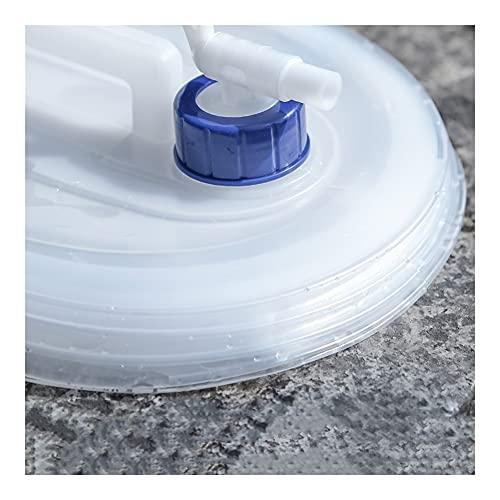 YJFENG Contenedor De Agua Plegable, Portátil Telescópico Plegable Transparente con Grifo Cubo del Coche, Utilizado para Acampar Turismo Montañismo (Color : Claro, Size : 15L-30.5X26.5X28CM)