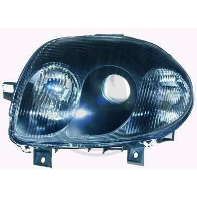 4413380, 1 paar koplampen, design zwart, voor Clio 2 van 1998 tot 2001