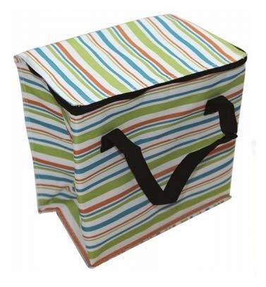 Guilty Gadgets Kühltasche, 14 l, isoliert, für Sommer, Outdoor, Strand, Camping, Picknick, Korb mit Reißverschluss, mit Tragegriffen, leicht, tragbar