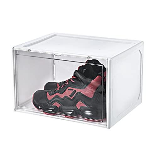 HOUSEHOLD Caja de Almacenamiento de Zapatos Apilables, Cajas de Zapatos de Plástico Transparente Acrílico para el Hogar, para Almacenamiento de Zapatillas de Deporte de Exhibición 11.4 * 14 * 8.86in