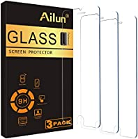 Ailun Screen Protector Compatible for iPhone 8 plus,7 Plus,6s Plus,6 Plus, 5.5 Inch 3Pack Tempered Glass