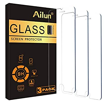 Ailun Screen Protector Compatible for iPhone 8 plus,7 Plus,6s Plus,6 Plus 5.5 Inch 3Pack Case Friendly Tempered Glass