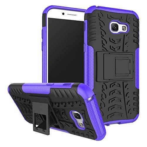 QIVSTAR for Samsung Galaxy A5 2017 Heavy Duty Combo Hybrid{PC+TPU} Case Cool Style Armor Anti-Fall Case with Kickstand for Samsung Galaxy A5 2017, Hyun-Purple