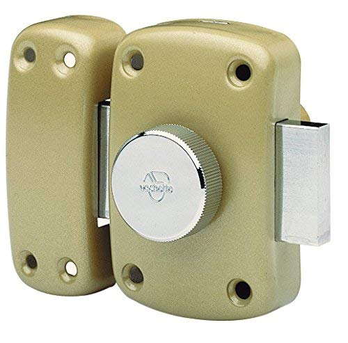 Vachette - Verrou de sureté bouton et cylindre série Cyclop - 40 mm bronze Vachette