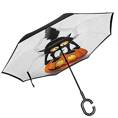Gitarrenumgekehrter Regenschirm gestreifte und zweifarbige E-Gitarren-Silhouetten und Umrisse mit C-förmigem Griff Reseda