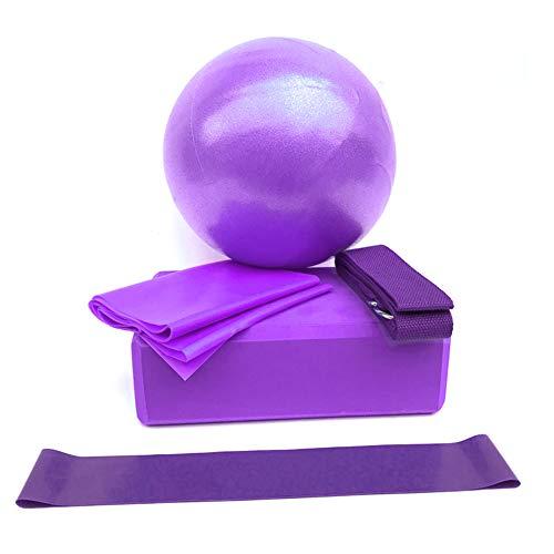 heshuo Fitness Gym Yoga banda de resistencia Pelota de ejercicio de ladrillo de bloque de casa para accesorios de entrenamiento eficaces (color púrpura)