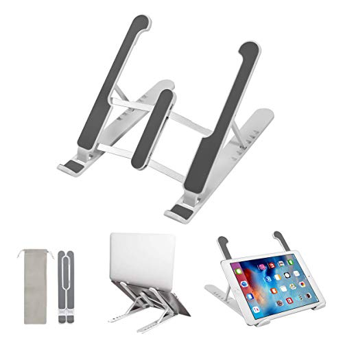 QZLMGZSL Black Laptop Stand, Tablet Stand, Adjustable Notebook Tablet Stand, Suitable for 6~15.6 inch MacBook Pro/Air, Asus, Samsung, HP, Asus, Sony, Dell, Acer, Lenovo Laptop, iPad, Kindle etc
