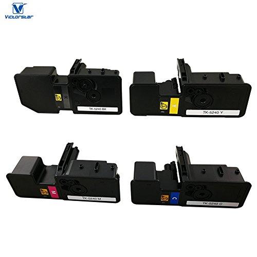 VICTORSTAR @ Cartuccia Toner Compatibile TK5240 / TK-5240 per Stampanti Laser Kyocera ECOSYS P5026cdn / P5026cdw / M5526cdn / M5526cdw (4 Colors)