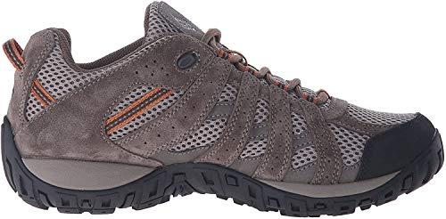 Columbia Men's Redmond Hiking Boot, Pebble, Dark Ginger, 10.5 Wide