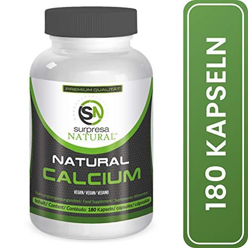 Surpresa Natural® - Natural Calcium - 180 hochdosierte Kapseln | 100{5a2f6382aab4d9d6188a68ec4a53f970641d155cc4bdc2b31ae38937557baa30} natürliches Kalzium aus der Rotalge, Calcium del Mar | Meeres-Kalzium | für starke Zähne, Knochen und Nerven