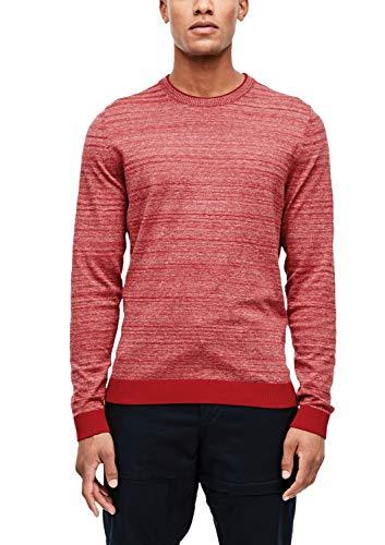 s.Oliver Herren 13.909.61.6204 Pullover, Rot (Uniform Red 36w0), Large (Herstellergröße: L)