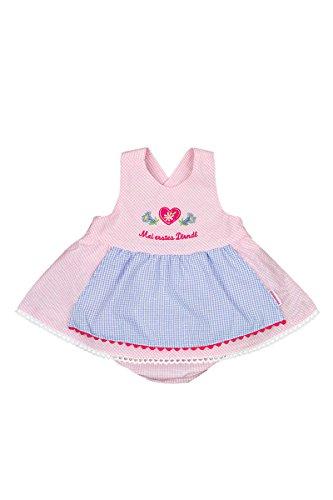P.Eisenherz Baby - Mädchen Baby Dirndl rosa, Rosa, 62/68