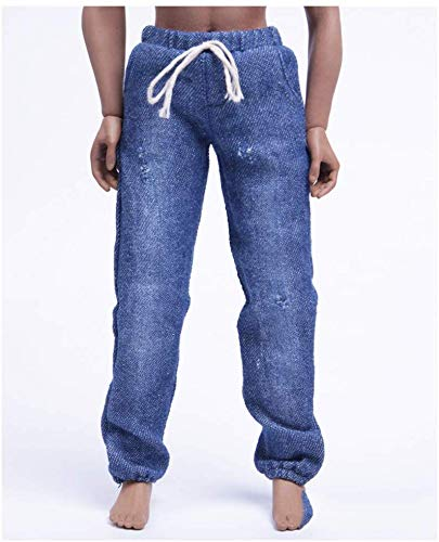 ZSMD 1/6 Doll jeans nonchalante trends broek gewassen elastische sluitingen vrije riem joggingbroek voor HT VERYCOOL TTL Hottoy Play Phicen