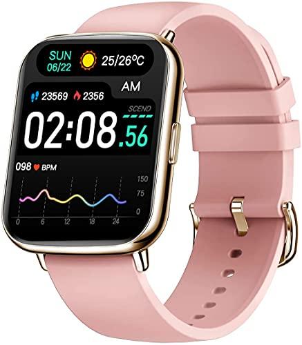 Bengux Smartwatch, 1.69 Zoll Voll Touchscreen Fitnessuhr mit Musiksteuerung Kamerasteuerung Schrittzähler, Fitness Tracker mit Pulsmesser und Schlafanalyse, Sport Armbanduhr für Damen Herren