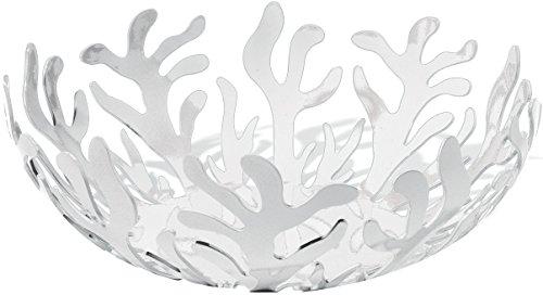 Alessi Mediterraneo ESI01/29 W Frutero de Diseño, Acero Inoxidable y Resina Epoxi, Blanco, 29 cm