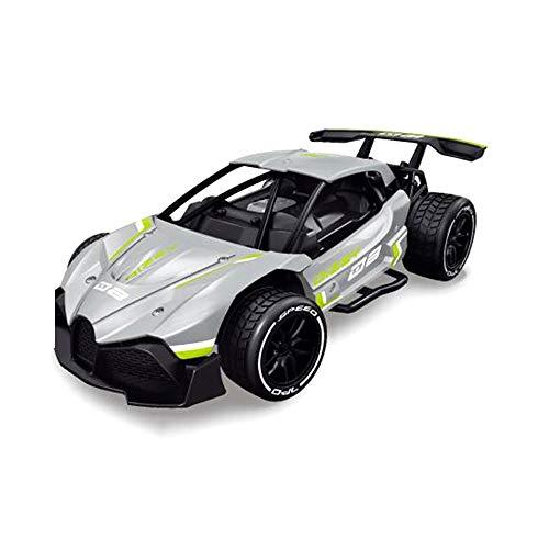 WMKEDY Stunt Car, Elektro-4x4-Antrieb Fernsteuerungsauto- 2.4G Racing-Plan Off-Road-Drift Car Geschwindigkeit 35km Legierung Material, Kinder Off-Road-Spielzeug Fern,Funny Gifts (Color : Silver)