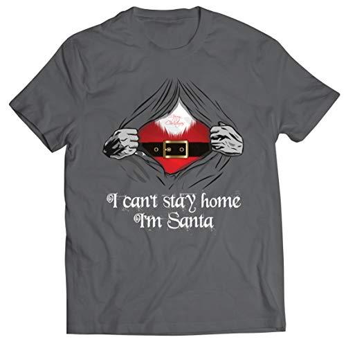 lepni.me Männer T-Shirt Ich Kann Nicht zu Hause Bleiben Ich Bin Weihnachten 2020 Verriegelungs-Outfit (Large Graphit Mehrfarben)