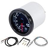 X AUTOHAUX 1 Set 2-1/16' 52mm 7 Color LED Exhaust Gas Temperature Gauge Black Dial Temperature Sensor for Car