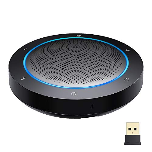 GOGOCOOL Bluetooth Speakerphone, Noise Reduction Conference Speaker with Mic, USB/Dongle/Bluetooth Connection, Enhanced Voice Pickup, Compatible with Meeting Apps for Home Office