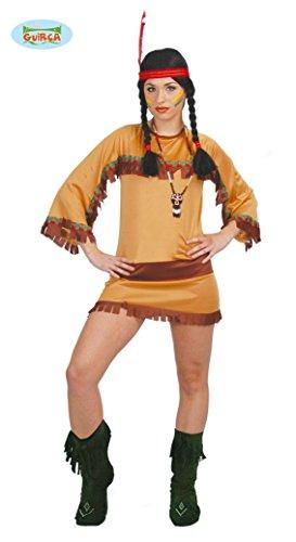 sexy Indianerin - Kostüm für Damen Karneval Fasching Wilder Westen Apache Gr. M/L, Größe:L