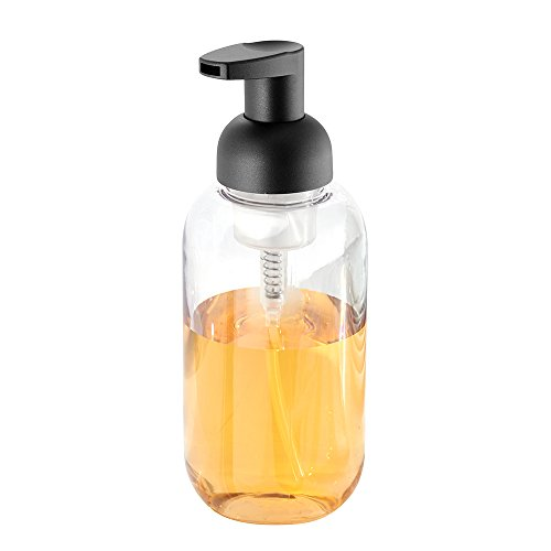 Price comparison product image iDesign Duo Foam Hand Soap Dispenser,  Made of Plastic,  Clear / Matte Black