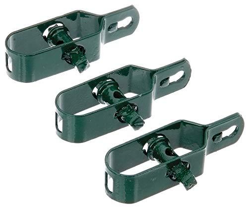 GAH-Alberts 611170 Drahtspanner | verzinkt, grün kunststoffbeschichtet | Größe 2 | Länge 100 mm | 3er Set