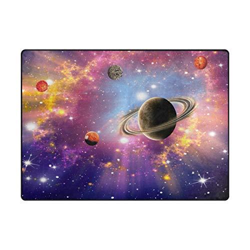 Orediy Große weiche Schaumstoff-Teppiche Universum Planet Sterne Leichte Kinder Spielmatte Boden...