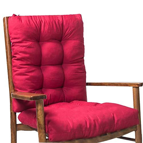 FDNFG Seat Cushion Chair 2 Teile/Set schaukeln Stuhl Kissen Dicke Sitz Kissen Rattan Stuhl Sofa Kissen Garten Stuhl Kissen zurück und unten # 20 Seat Cushion Chair (Color : Red Wine)