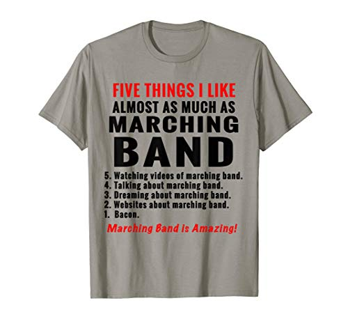5 Things about marching band funny Tee Shirt